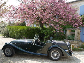The Morgan in front of Manor Cottage